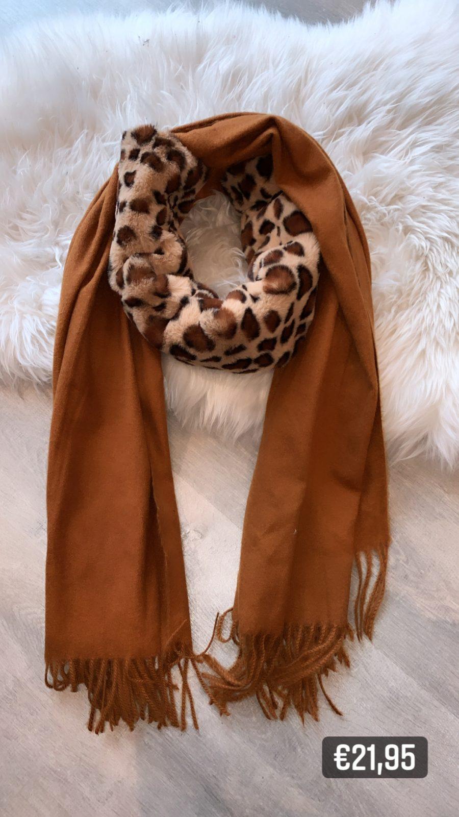 Sjaal+acces bruin