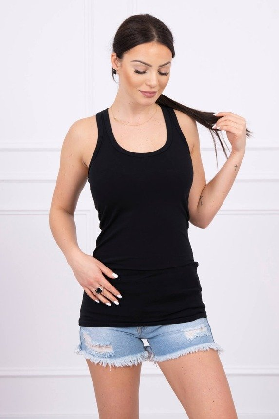 Strappy top blouse black