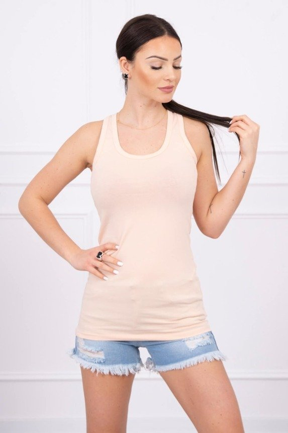 Long strappy top peach