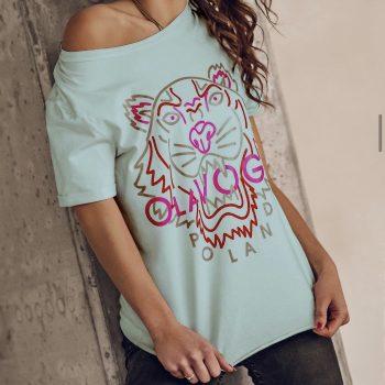 T-Shirt lion mint