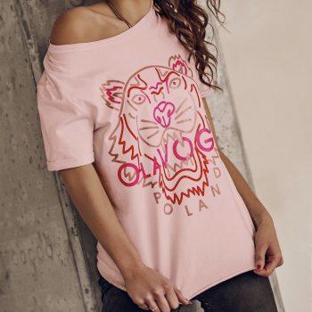 T-Shirt lion pink