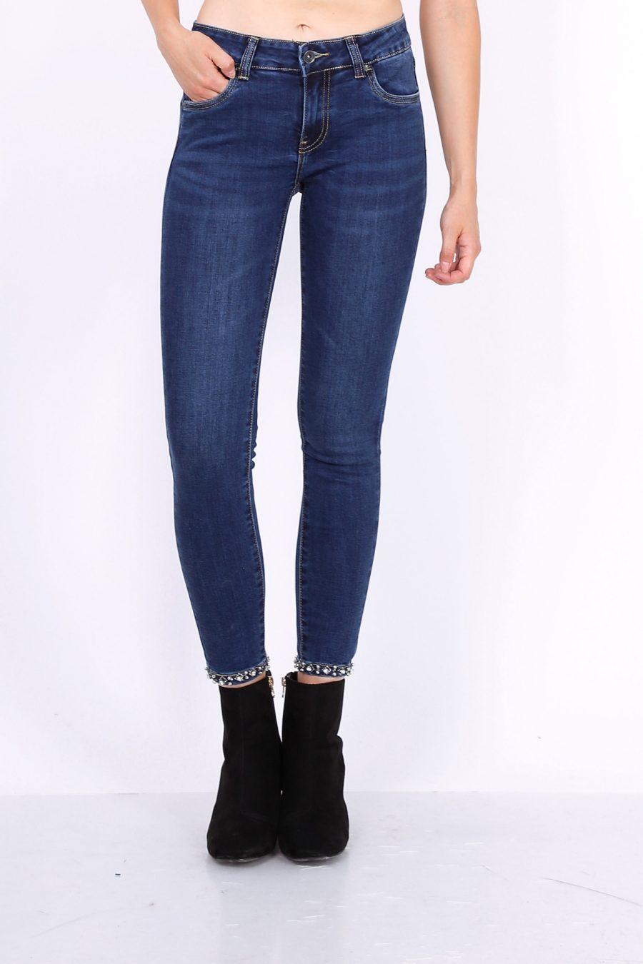 Toxik jeans donker met strik