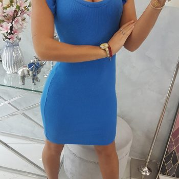 PRE ORDER Dress with frills on the sleeve mauve-blue