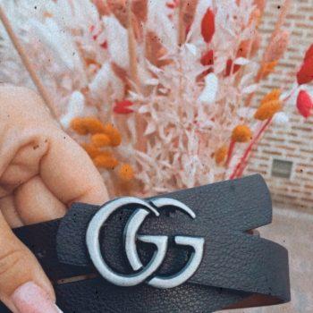 Riem zwart zilver mat GG klein
