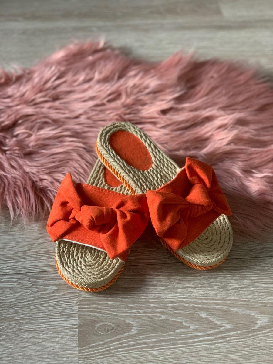 Slippers strik oranje