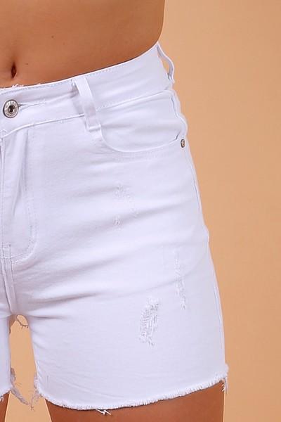 Kort wit jeanshortje