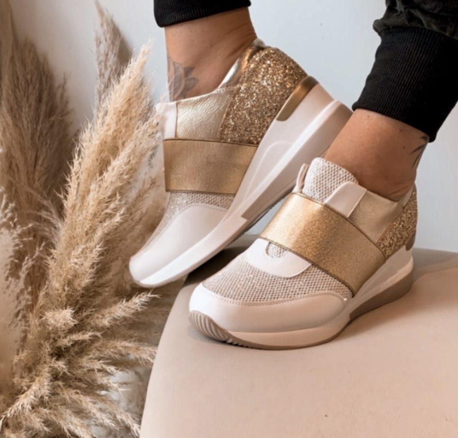 Sneaker Goud met glitters