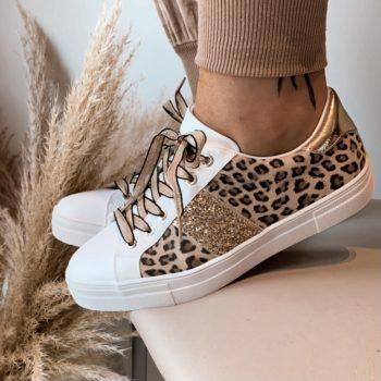 Sneaker goud/Leopard
