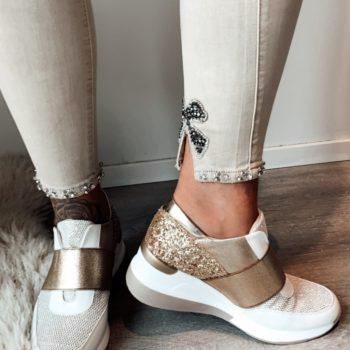 Toxik jeans kaki met strik